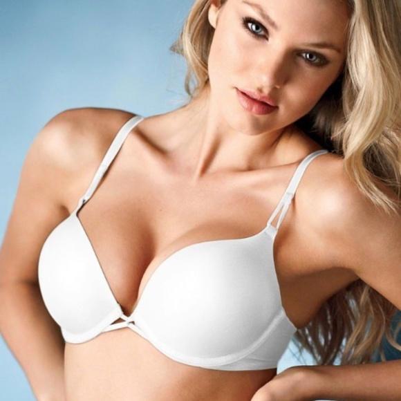 38d36e0f3d5fd Victoria's Secret Bombshell Push-Up Bra: 32B White NWT